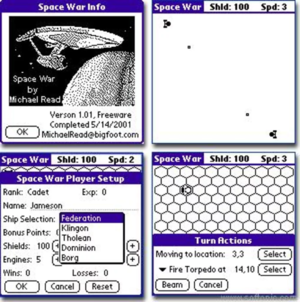 My inspiration: Space War for the Palm OS